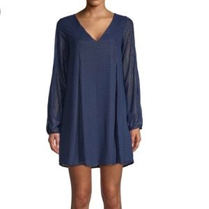 NWT BCBGENERATION Blue Split Sleeve Dress